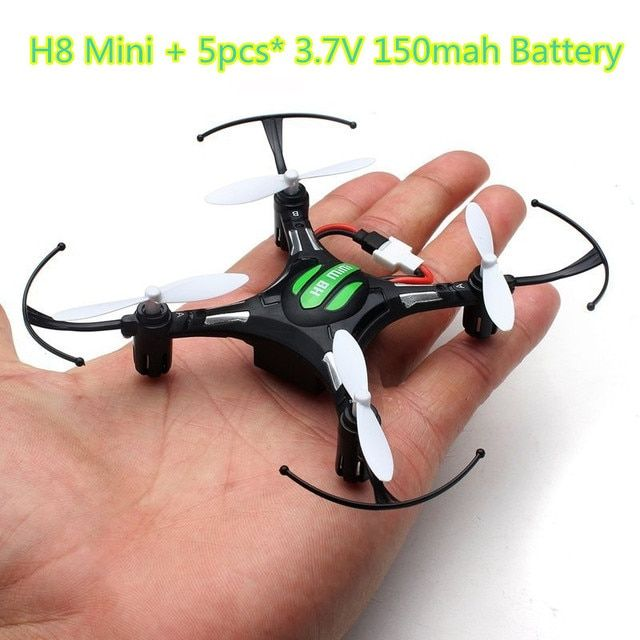 JJRC H8 mini drone Headless Mode 6Axis Gyro 2.4G 4CH 360 Degree One Key Return RC Helicopter 5pcs 3.7V 150mAh Battery