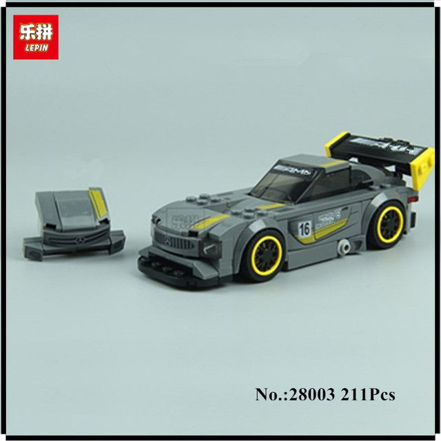 IN STOCK Lepin 28003 211Pcs Super Racer Series The AMG GT3 Racing Car Set Children Educational Building Blocks Bricks Toys Gift