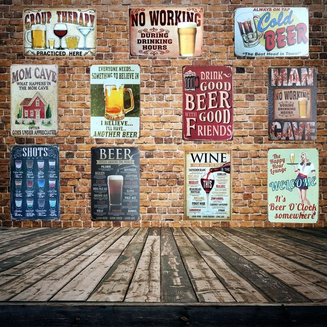 [ Mike86 ] Beer Pratice Here Metal Sign PUB Home Hotel Decoration Vintage Painting Wall Poster Art 20*30 CM Mix Items AA-455