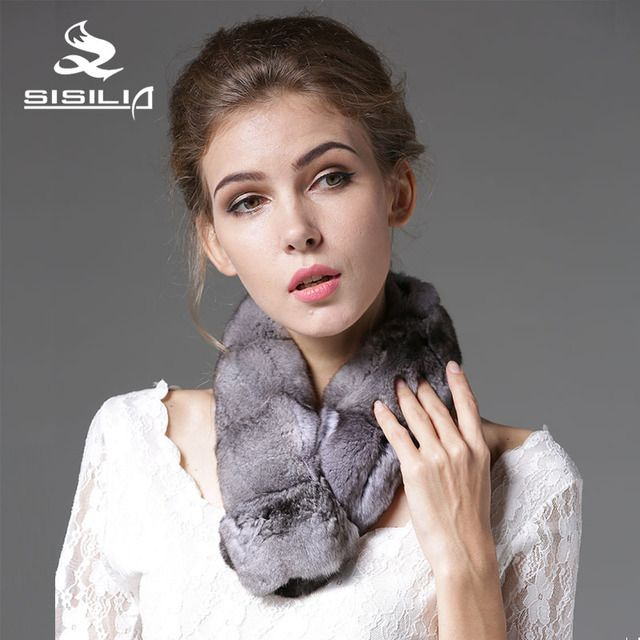 2016 New Arrival Natural Chinchilla Pieces Muffler 100% Real Natural Fur Scarf Fashion Scarf Fur