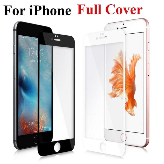 Full Cover Screen Protector Tempered Glass For iPhone 6 6S Plus 6Plus 6sPlus 7 Toughened Glass Protective Explosion Proof Film