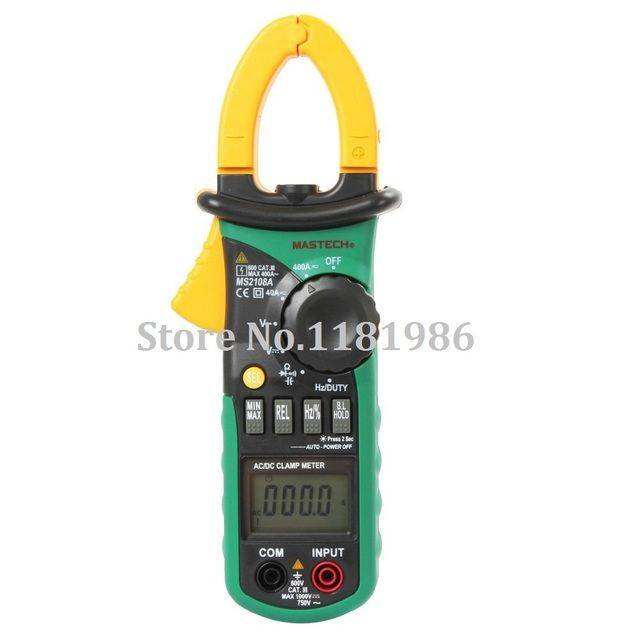 MASTECH MS2108A Digital Multimeter Amper Clamp Meter Current Clamp Pincers AC/DC Current Voltage Capacitor Resistance Tester