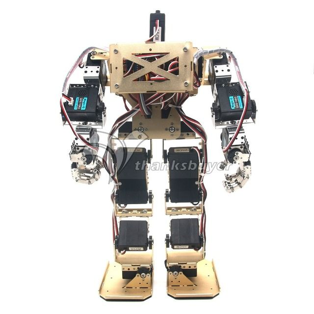 17DOF Biped Robot Humanoid Anthropomorphic Combat Battle Robot Height 38cm for DIY Robotics Assembled