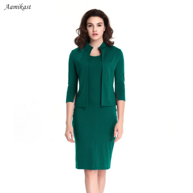 2019 winter dress Women's Elegant Collar Colorblock Optical Illusion Faux Twinset Wear to Work Office Sheath Bodycon Dress