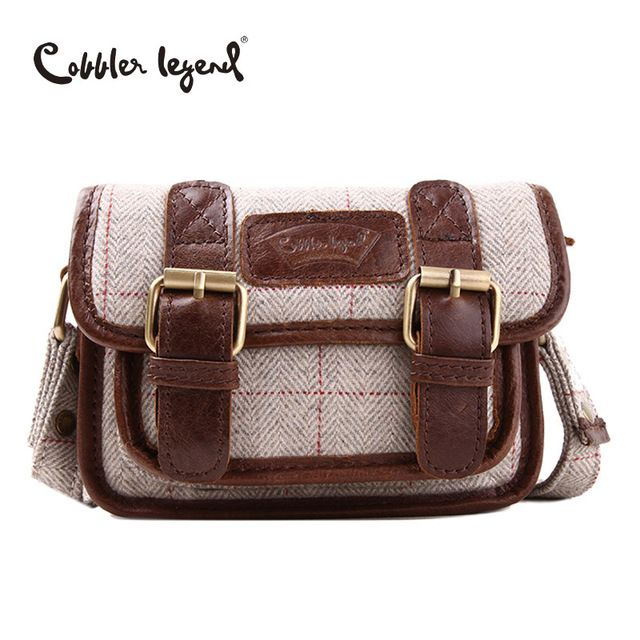 Cobbler Legend 2018 New Women Messenger Bag Genuine Leather Handbag For Girl Crossbody Small Bag Brand Design Mini Handade Bag