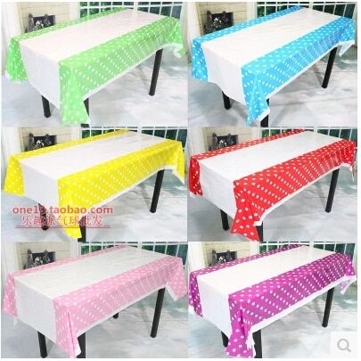 TR010 Colorful Polka Dots Plastic Table Cover Cloth for Kids Birthday Party Decoration Baby Shower Decoration Supplies