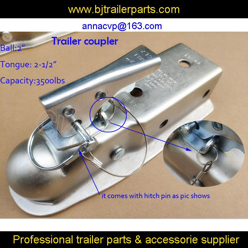 "Trailer coupling 2"" x 2-1/2'' Ball Hitch Back Trailer Coupler Tongue 2-1/2"" 3,500 Ibs,trailer parts"