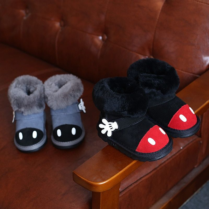 Children's Shoes Boots Girl's Shoes Boy's Snow Boots Lovely Hand Shape Boots Real Leather Top Quality Boots 2 Colors