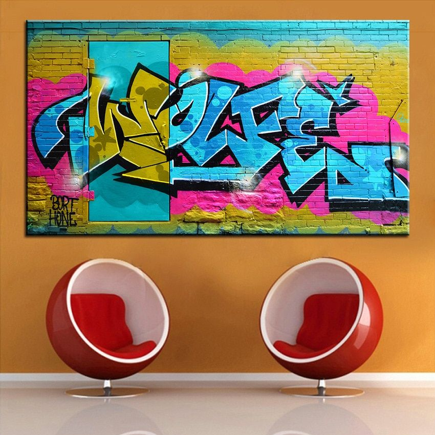 Large size Printing Oil Painting graffiti art 2 Wall painting Home Decorative Wall Art Picture For Living Room painting No Frame