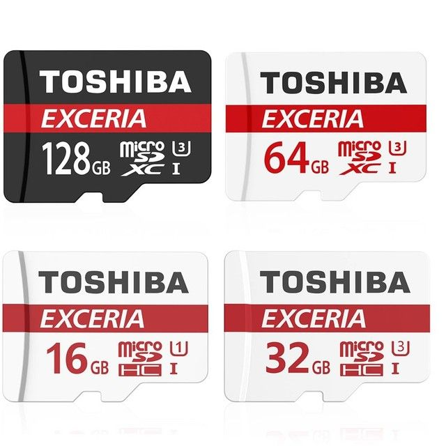 TOSHIBA Micro SD Card 32GB Class 10 16GB/64GB/128GB UHS-1 U3 90MB/S 4K Memory Card Flash Memory Microsd for Smartphone