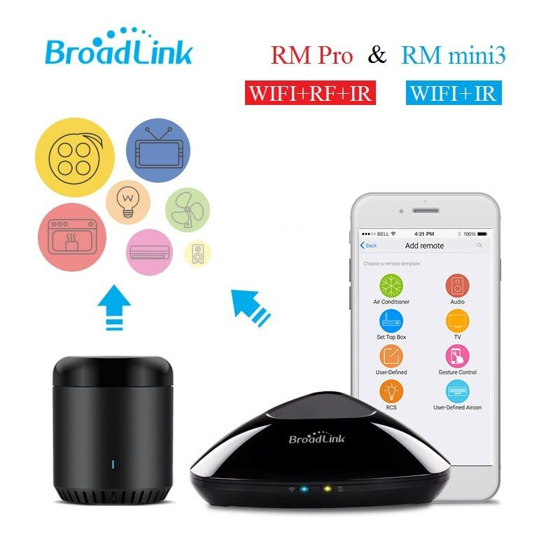 Broadlink RM Pro RM mini3,Smarthome Automation,Universal wireless remote controller,WIFI+IR+RF switch by smart phone IOS Android