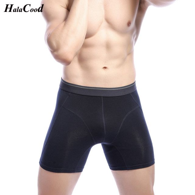 Hot 2019 New Quality Brand Men's Long Underwear Fashion Sexy Mr Underpant Men's Boxers Male Panties Plus Size Fat Cotton Shorts