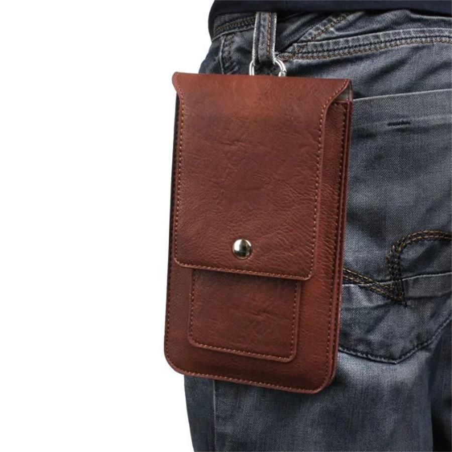 Universal Double Pockets Hook Loop Belt Pouch Holster Bag For Sony Xperia XA Ultra/XA1 Ultra/XZ Premium Phone Cases Sleeve
