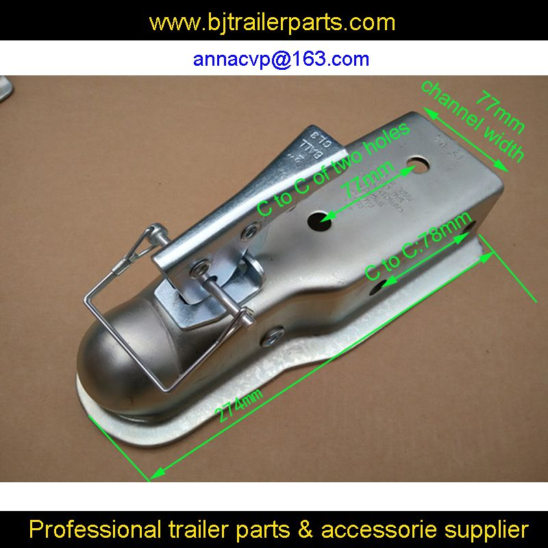 "CVP Trailer coupling 2"" x 3'' Ball Hitch Back Trailer Coupler straight Tongue 3"" 5000 Ibs,trailer parts"