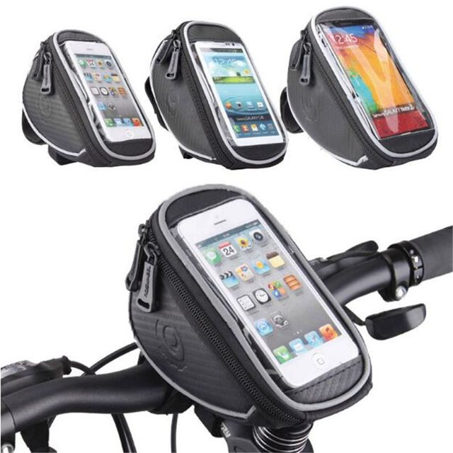 ROSWHEEL Bicycle Smart Phone 4.2/5.0/5.5 inch Bag Handlebar MTB Road Bike Cycling Front Frame Basket Storage Bycicle Bolsa