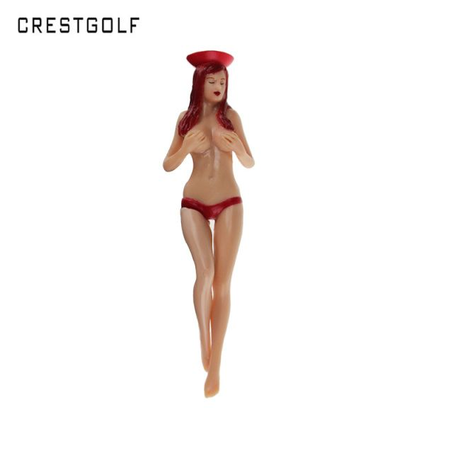 CRESTGOlf Style 6pcs/pack size 75mm(2.95inch) Sexy Bikini Lady Golf Tees Gift Newest Design Plastic Golf Tees Golf Accessories