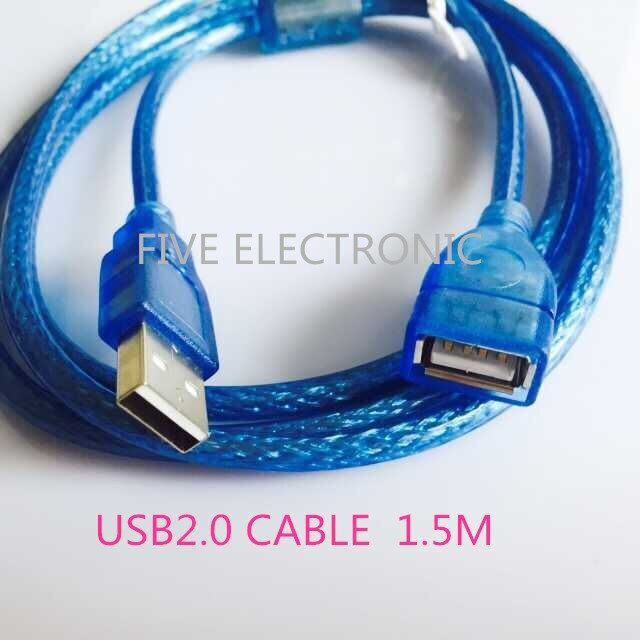 USB2.0 Connector  CABLE With Magnet Ring. 1.5M, Printer Line, 28AWG-24AWG GAUGE.Male & Femal Extension Cable