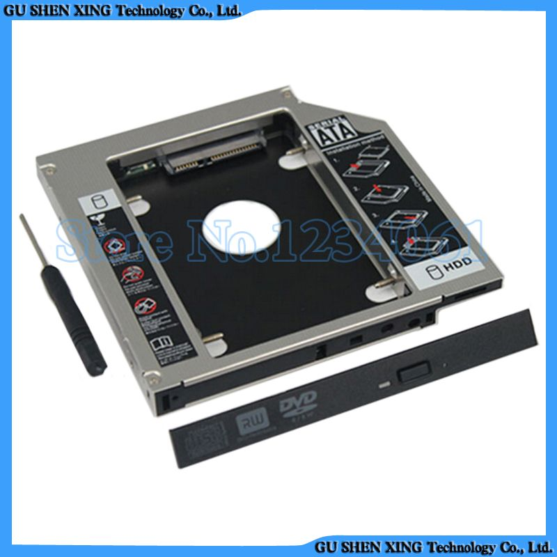 2nd HDD SSD Hard Drive Caddy for Dell Alienware M14x replace UJ8A7 DVD 9.5mm