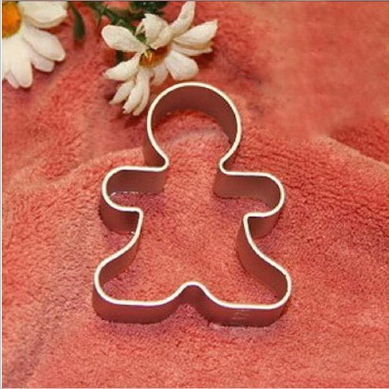 Best Christmas Cookie Cutter Tools Aluminium Alloy Gingerbread Men Shaped Holiday Biscuit Mold Kitchen cake Decorating Tools