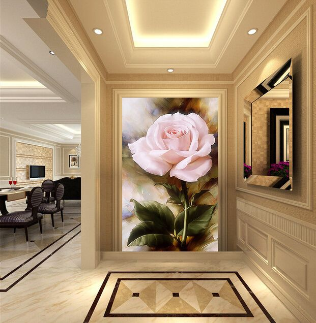 Custom papel DE parede 3 d,rose oil painting for the living room bedroom TV background wall waterproof wallpaper