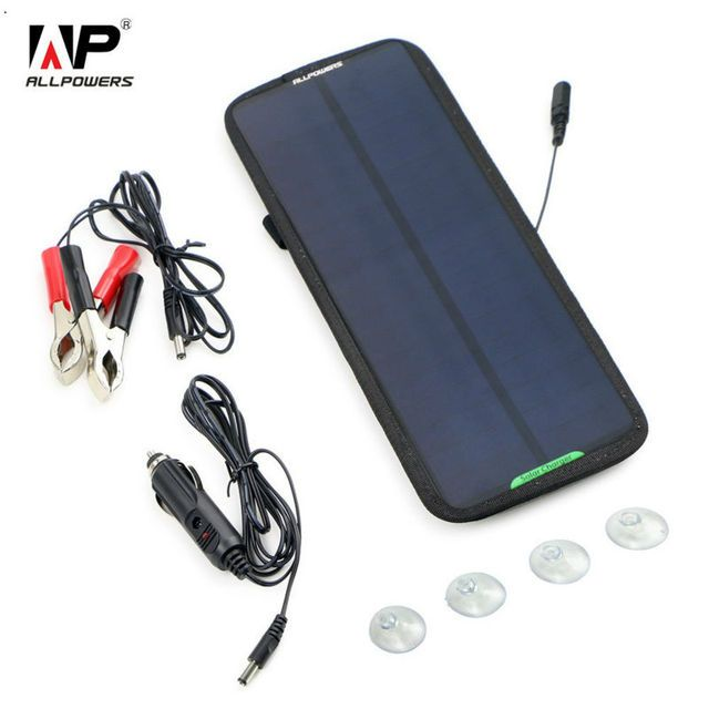 ALLPOWERS 12V 18V 7.5W Solar Charger Solar Panel Battery Maintainer for Car Automobile Motorcycle Boat Battery Fish Finder