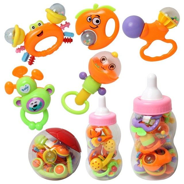 NEW Infant Toys Baby Crib Revolves Around The Bed Stroller Playing Toy Crib Lathe Hanging Baby Rattles Mobiles
