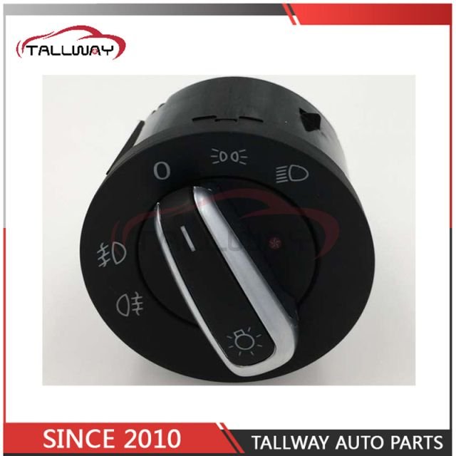 5ND941431 For VW Golf Jetta MK5 MK6 GTI Passat B6 Touran Tiguan Chrome Headlight Switch Fog Head Light Lamp Knob 5ND 941 431 A
