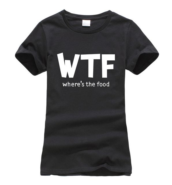 Where's the food print funny mma women t-shirt 2019 summer harajuku fashion brand korean tee shirt femme punk hipster black tops