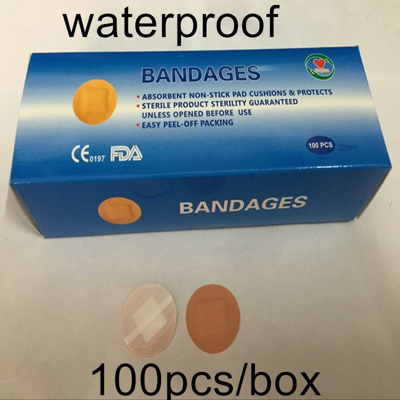 (100pcs/box) round waterproof band-aid/adhesive plaster/wound dressing