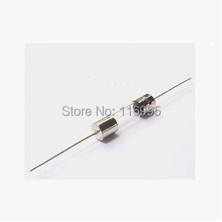 Fast Blow 20pcs glass Fuse with wire /insurance tube 5* 20 mm / 250 v F1A/250V