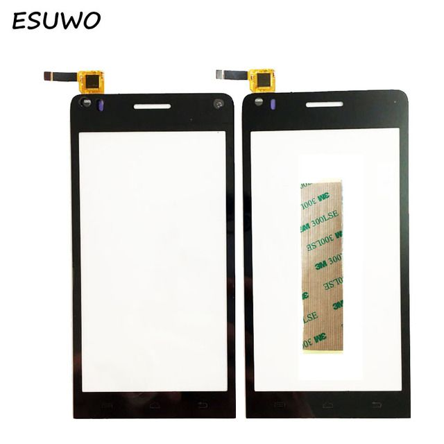 "ESUWO 4.5"" Tested Touchscreen For Explay Tornado Touch Screen Sensor Digitizer Front Glass Touch Panel Replacement + 3M Tape"