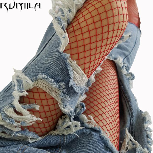 fashion red medium grid women high waist stocking fishnet club tights panty knitting net pantyhose trouser mesh lingerie TT016