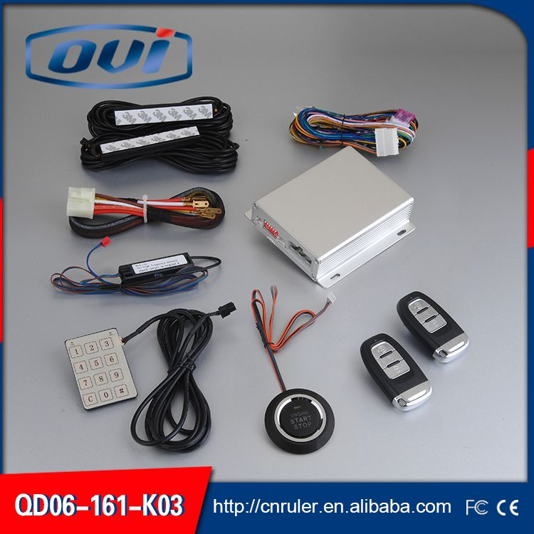 Engine Start Stop Button Remote Keyless Start Passive Keyless Entry Car Alarm System For Any Car Wholesale And Retail