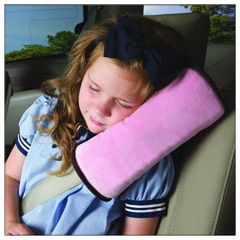 1 X Usefully Pink Baby Kids Car Auto Seat Belt Cushion Shoulder Pad Pad Cover Auto Safety Children Protection Covers Pillow