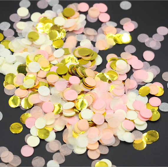 lowest price!1KG/ 1000g  Foil Gold Tossing Confetti 1inch /2.5cm - Bridal Baby Shower Party Supplies Table scattered Decor