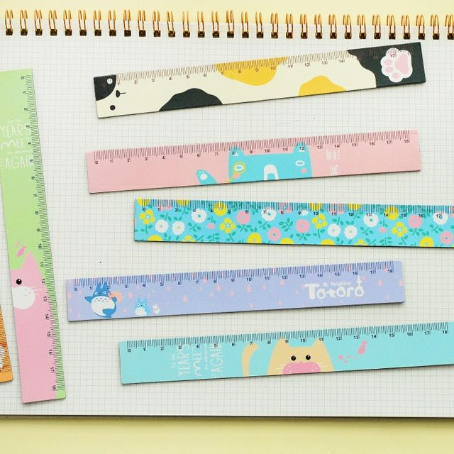 18cm Creative Kawaii Soft Magnetic Ruler Cute Cartoon Animal Ruler For Kids Student Korean Stationery Free Shipping 1616