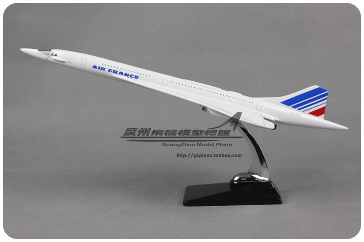 Brand New 1/100 Scale Airplane Model Toys AIR FRANCE Concorde F-BVFB 50cm Resin Plane Model Toy For Gift/Collection/Decoration