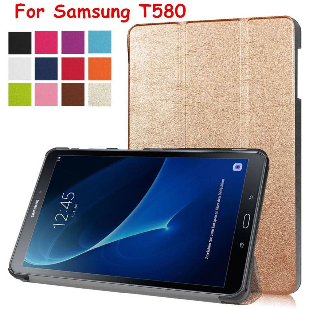 Magnet Smart Flip Cover leather case For  Samsung Galaxy Tab A A6 10.1 2016 T585 T580 SM-T580 T580N Tablet Case Protective shell