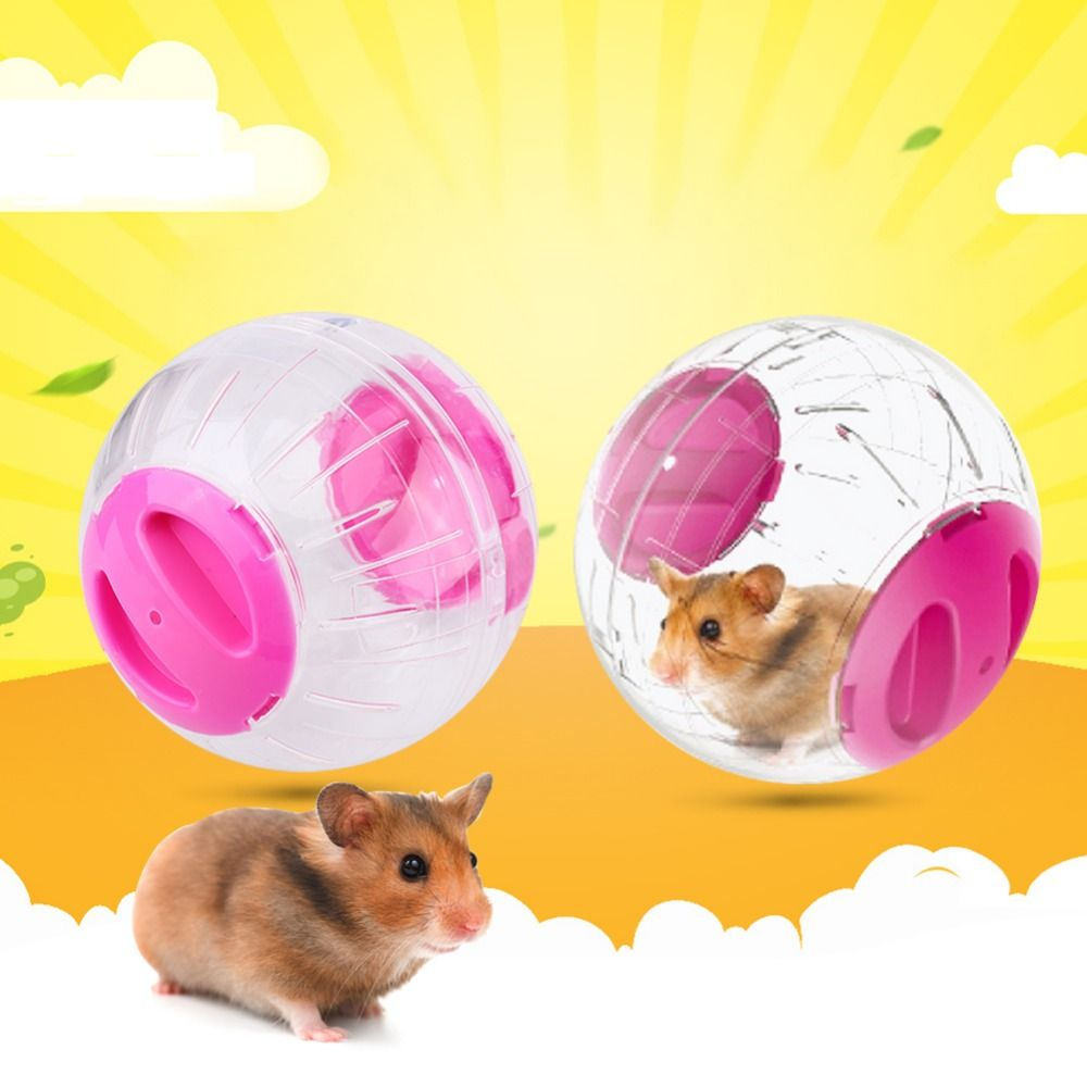 Small Animal Pet Play Toys Crystal Hamster Ball Jogging Play Exercise Ball Rodent Mice Hamster Gerbil Rat Special Toy 3 Colors