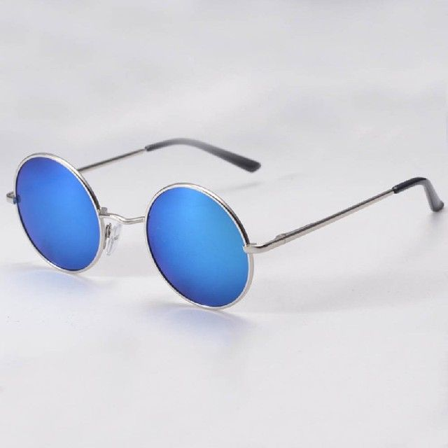 2016 Hippie Man  Retro HD  Sunglasses Round Lens Metallic Reflective Mirror Vintage Glasses Eyewear