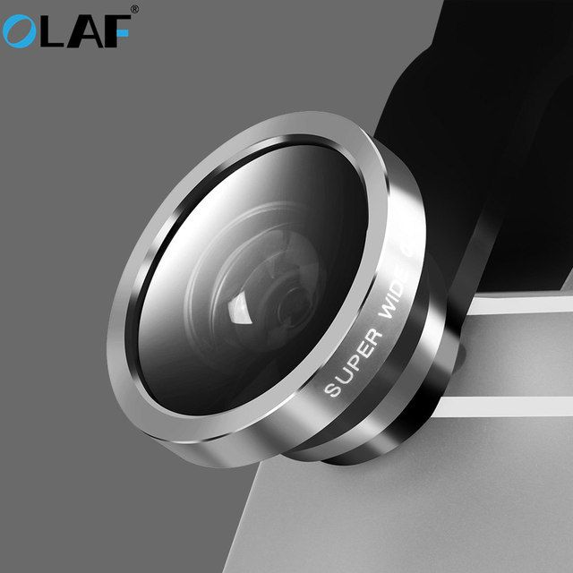 OLAF Universal fisheye lens 3 in 1 Wide Angle Macro fish eye lens mobile phone lens for smartphone mobile camera fish eye lens