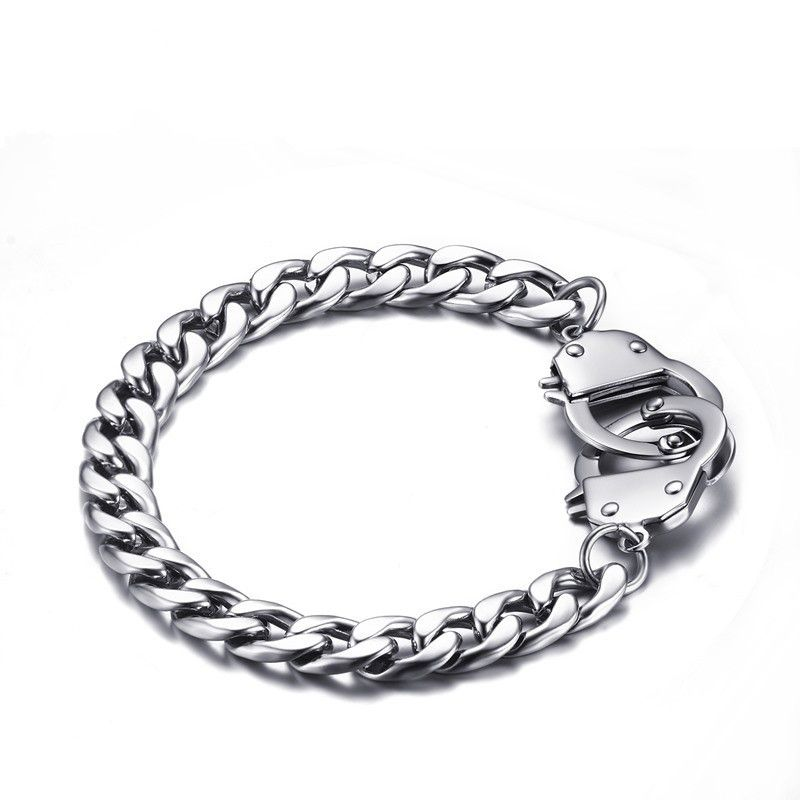 Men Summer Korean Fashion Bracelet 20.5MM Stainless Steel Personalized handcuffed Bracelets & Bangles Men Jewelry