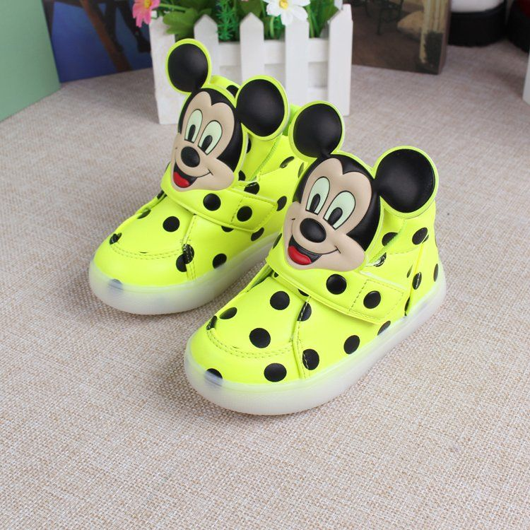 European fashion cute LED lighting children shoes hot sales Lovely kids sneakers high quality cool boy girls boots free shipping