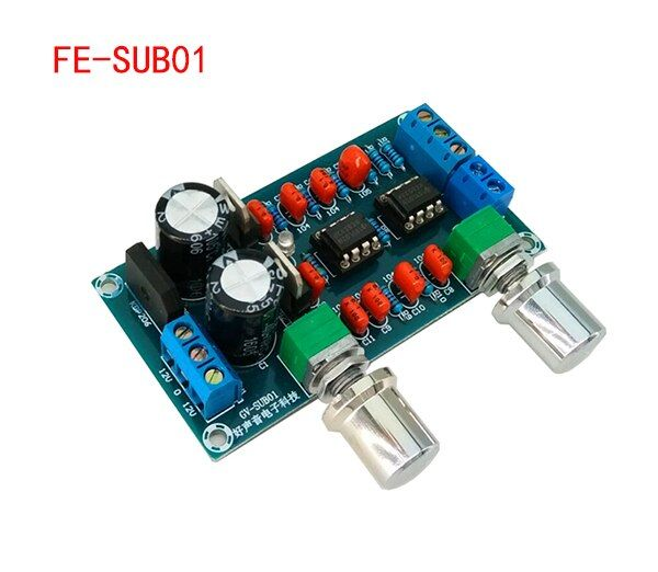 NE5532 low pass filter board level before the board finished plate overweight subwoofer sound palette low-pass filter