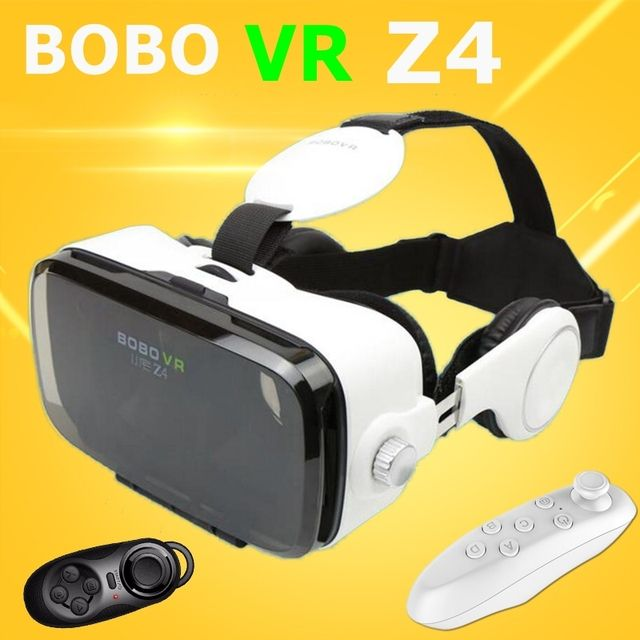 NEW VR BOX BOBO Z4 Goggles 3D Glasses Smartphone Helmet Headset Len For 4.0-6.0 inch phone + Remote Control