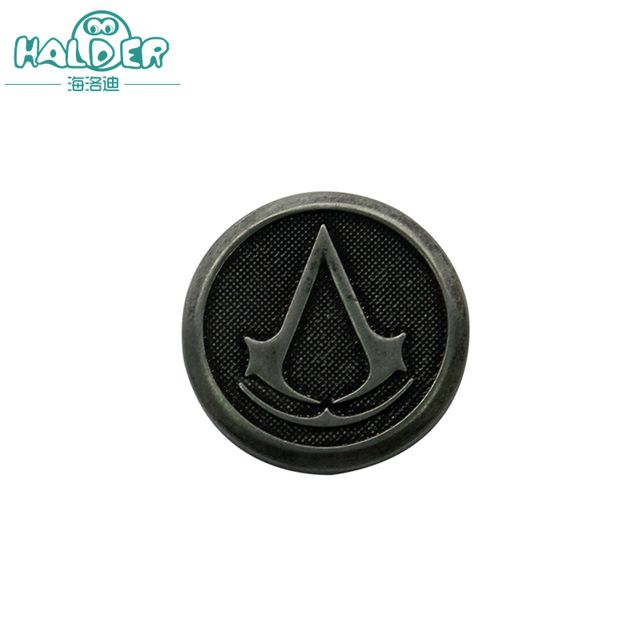 Halder store Assassin's Creed Metal Brooch Great Revolution Cool Fashion Jewelry Badg  Anime Halloween Cosplay Accessories