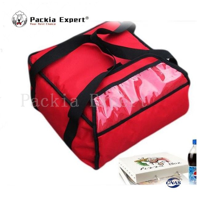 36*36*18cm pizza bag with heat generating sheet  Pizza thermal insulation bag pizza delivery bag-red color