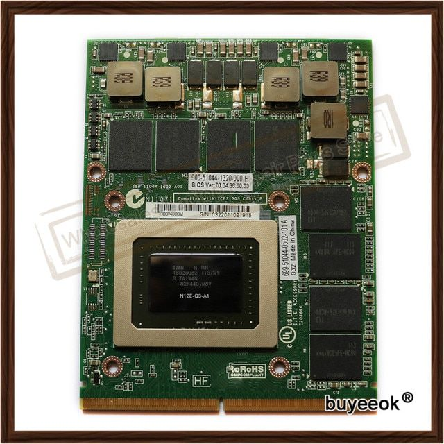 Original New Q4000 2G N12E-Q3-A1 Graphic Card For HP 8770W 8760W DELL M6600  Display Video Card GPU Replacement Tested Working