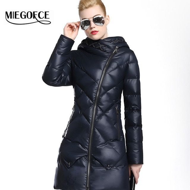 MIEGOFCE 2016 New Winter Women  Fitted Down Coat Jacket Warm High Quality Woman Down Parka Winter Coat women with Hood hot sale