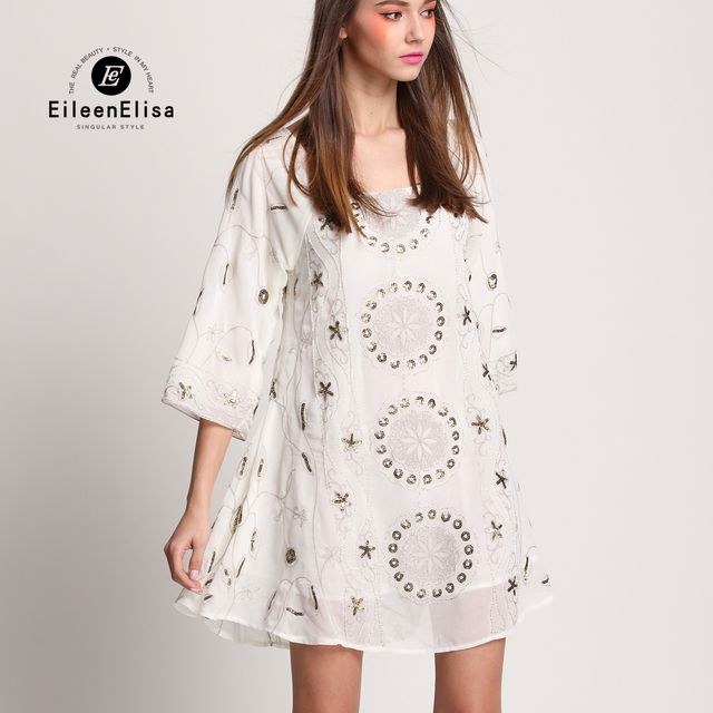 Luxury Mini Dress Woman Dresses High Quality Runway 2017 Loose Dresses